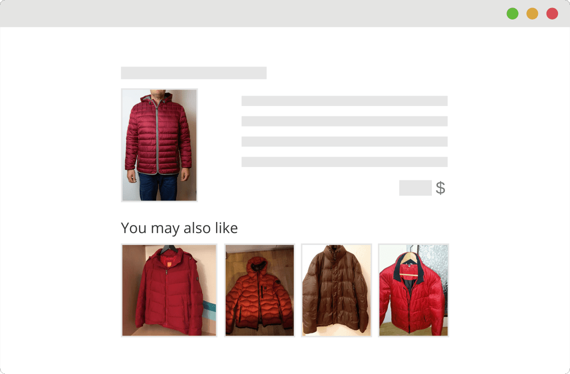 Fancy a red jacket? Personalization algorithm is here to help you find what you are looking for.