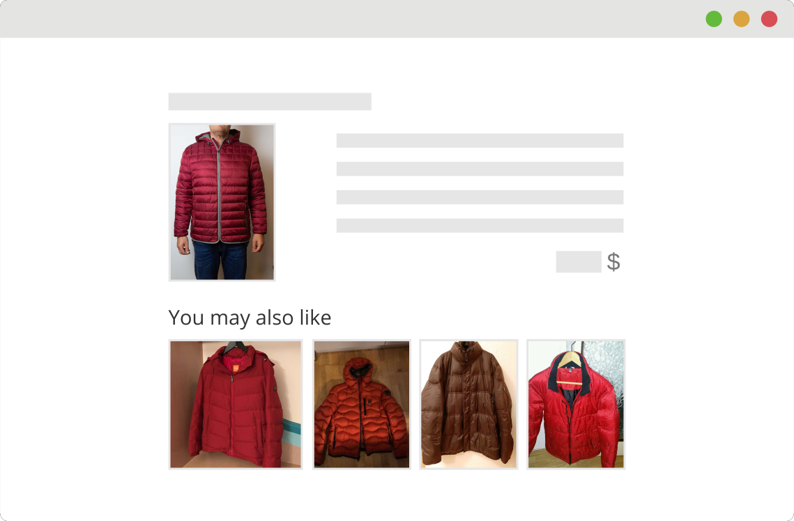 Visual Recommender Example